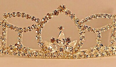 22367237674496 Rhinestone Crown/Tiara Homecoming/Prom/Wedding/Quinceañeras NEW! US Seller!