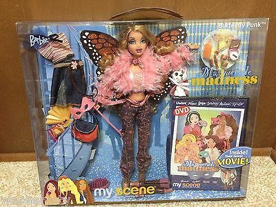 Barbie My Scene Masquerade Madness Kennedy Doll Root Eyelash Butterfly Punk Rare