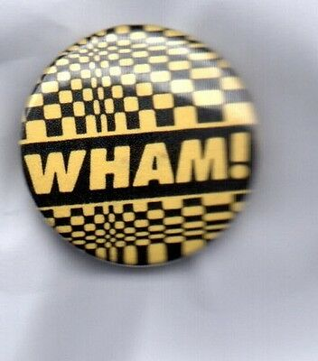 WHAM! BUTTON BADGE GEORGE MICHAEL - ANDREW RIDGELEY 80s POP BAND -FANTASTIC 25mm