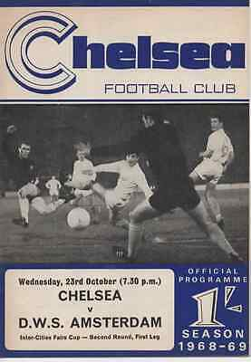 1968-69-Chelsea V Dws Amsterdam-Inter-Cities Fairs Cup 2Nd Rnd-1St Leg Programme