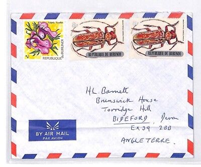 BQ280 Burundi Commercial Airmail Cover INSECTS BEETLES {samwells}PTS