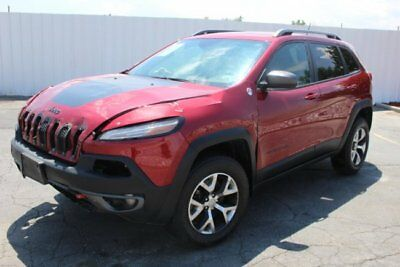 2015 Jeep Cherokee Trailhawk 4WD 2015 Jeep Cherokee Trailhawk 4WD Damaged Repairable Perfect Color Loaded L@@K!