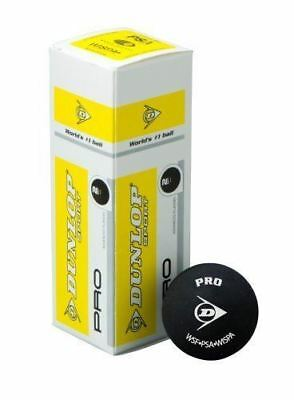 Dunlop Pro Squash Balls - 3 Ball Box or tube