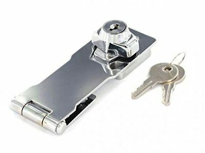 75mm Locking Hasp and Staple - Chrome Plated (Pack of 1)