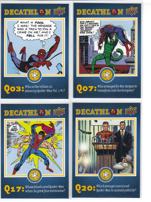 2017 UD Spider-Man Homecoming Lot of 4 Decathlon Insert Cards
