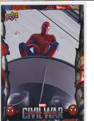 2017 UD Spider-Man Homecoming CW2 Captain America Cival War Insert Card