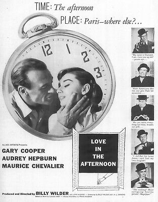 Love In The Afternoon Movie Poster 8X10 Reproduction Photo