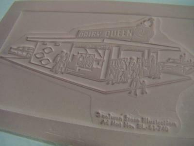 Vintage 1950-60s Dairy Queen Resturant Advertising Newspaper Printing Plate