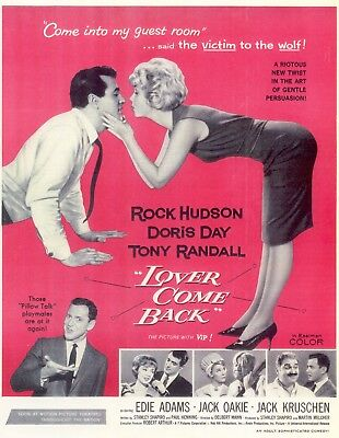 Lover Come Back Movie Poster 8X10 Reproduction Photo