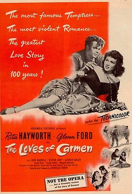 Loves Of Carmen Movie Poster 8X10 Reproduction Photo