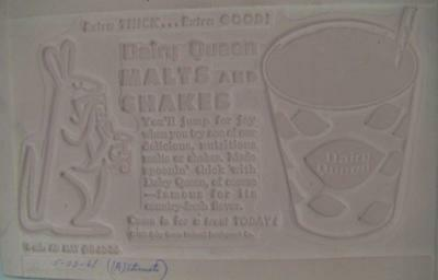 Vintage 1950-60s Dairy Queen Malts Shakes Advertising Newspaper Printing Plate