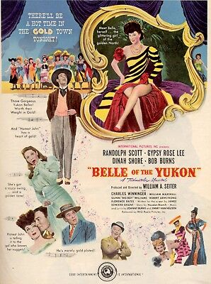 Belle Of The Yukon Movie Poster 8X10 Reproduction Photo