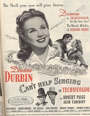 Can't Help Singing Movie Poster 8X10 Reproduction Photo