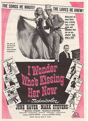 I Wonder Who's Kissing Her Now Movie Poster 8X10 Reproduction Photo