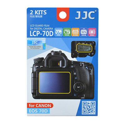 2 x LCD Screen Protector Guard 2pc Top & Back for Canon EOS 70D 80D DSLR camera