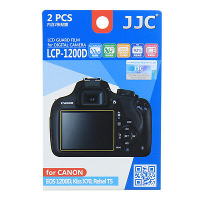 2 x LCD Screen Protector Guard for Canon EOS 1200D 1300D Rebel T5 T6 DSLR camera