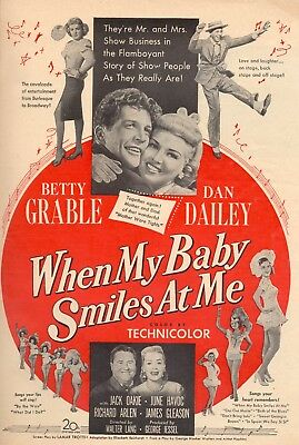 When My Baby Smiles At Me Movie Poster 8X10 Reproduction Photo
