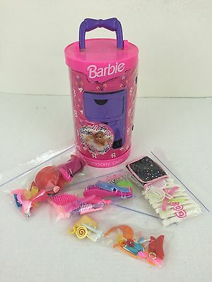 1992 Barbie Round Accessory Case with Accessories from Tara Toys