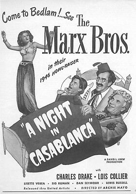 Night In Cassablanca  Movie Poster 8X10 Reproduction Photo