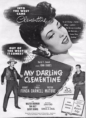 My Darling Clementine Movie Poster 8X10 Reproduction Photo