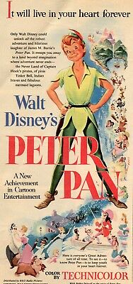 Peter Pan Movie Poster 8X10 Reproduction Photo