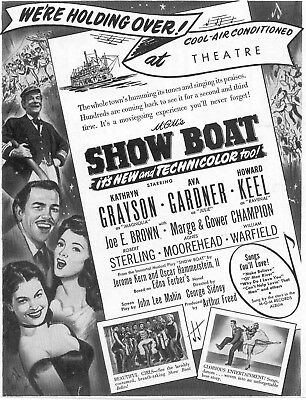 Show Boat Movie Poster 8X10 Reproduction Photo