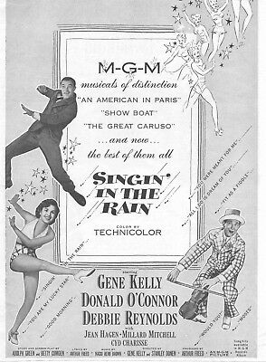 Singing In The Rain Movie Poster 8X10 Reproduction Photo