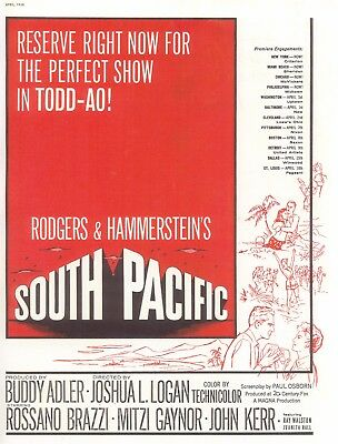 South Pacific Movie Poster 8X10 Reproduction Photo