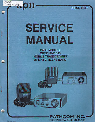 PACE Manual #L2085-476 MOBILE CB's 133 & 143