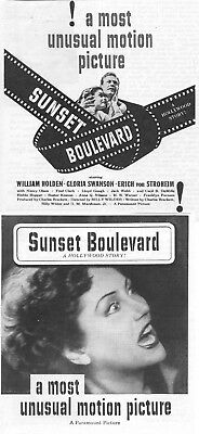 Sunset Boulevard Movie Poster 8X10 Reproduction Photo