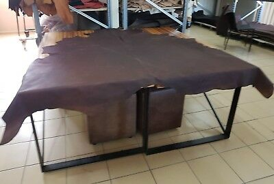Brown  Oily Relic Cow Hide (Great For That Rustic Look)