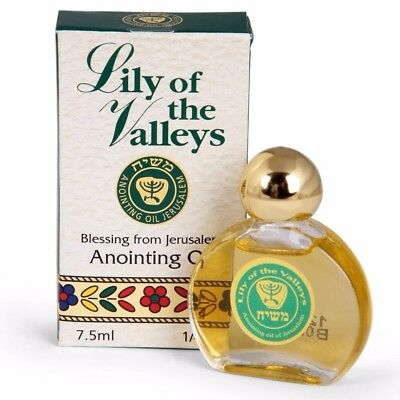 Lily of the Valleys Anointing Oil 0.25OZ - Blessed From The Holy Land Jerusalem