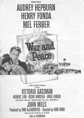 War And Peace  Movie Poster 8X10 Reproduction Photo