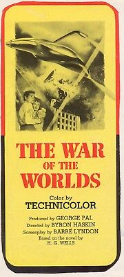 War Of The Worlds  Movie Poster 8X10 Reproduction Photo