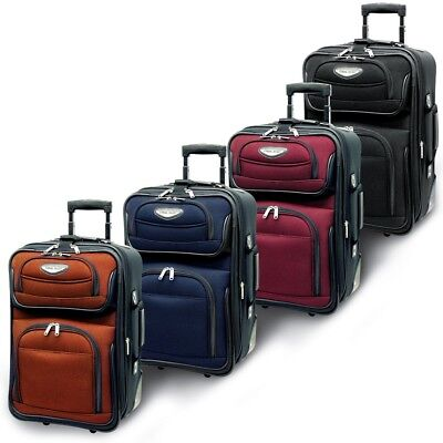 "Traveler's Choice Amsterdam 21"" Carry-on Expandable Rolling Luggage Suitcase Bag"
