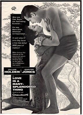 Love Is A Many Splendored Thing  Movie Poster 8X10 Reproduction Photo