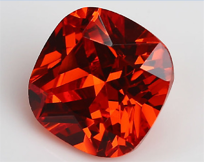Padparadscha Sapphire Unheated Orange 12x12mm Cushion Cut AAAA+ Loose Gemstones