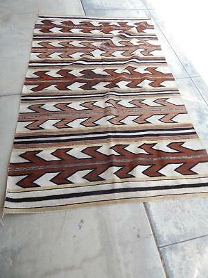 BIG ANTIQUE VINTAGE NAVAJO INDIAN RUG / WEAVING  BURNTWATER TRADING POST 51x83""