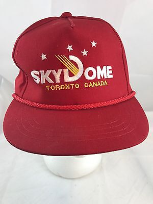 Sky Dome Toronto Red Vintage Ball Hat Cap Back Trucker Like New 1980s Rare!