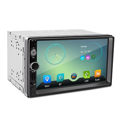 """7"""" Wifi GPS Double 2DIN Car MP5 MP3 Player Bluetooth Touch Screen Stereo Radio"""