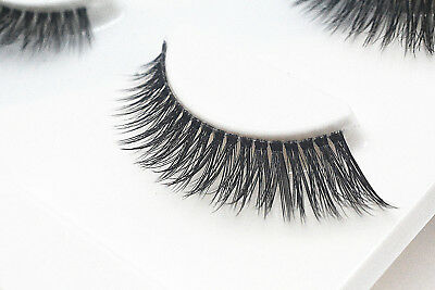 3 Pairs 3D Natural Make Up Soft Handmade Thick Long Cross False Fake Eyelashes