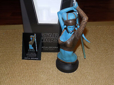 Gentle Giant, Star Wars, Aayla Secura Bust #1,267 Of 4,250 With Cert. & Box