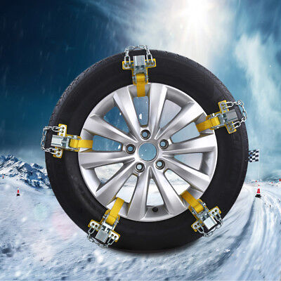 Auto Anti-skid Steel Chains Car Skid Belt Snow Mud Sand Tire Clip-on Chain