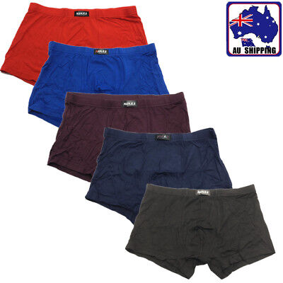 2pcs Bamboo Fiber Men's Underwear Boxer Briefs Trunks Solid Color L-XXXL CPAN844