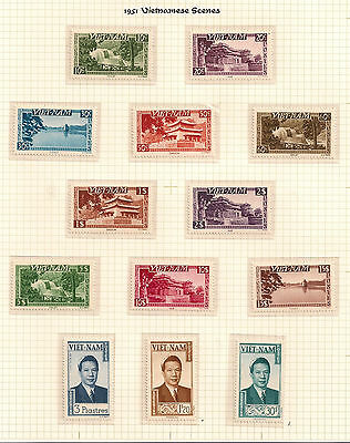 Vietnam 1951  in the French Union SG 61-73 Largely mnh