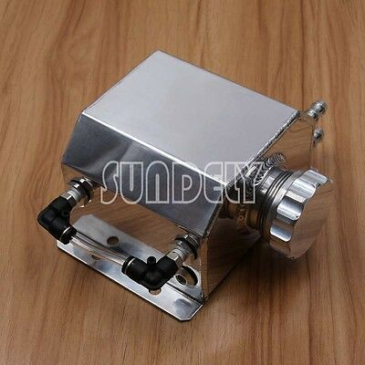 1 Litre Coolant Water Tank Bottle Aluminium Alloy Universal Kit Car Silver AU