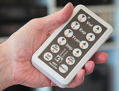 dbx 4BX aftermarket remote control, touch-based, with Macro facility