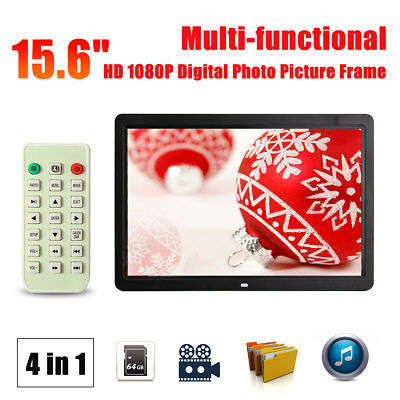 15.6''HD 1080P LED Digital Photo Picture Frame  Remote Control MP4 Vedio Player