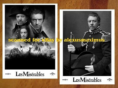 LES MISERABLES rare Press Kit & 30 Photo Set RUSSELL CROWE Hugh Jackman SEYFRIED