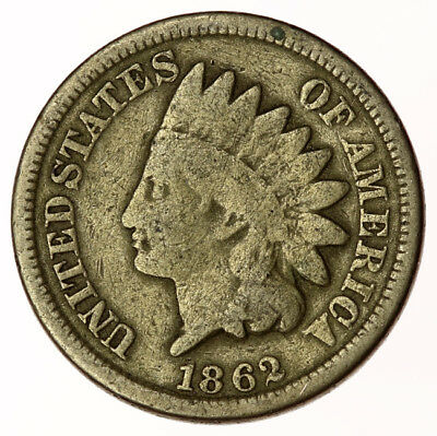 1862 Indian Head Cent USA 1c